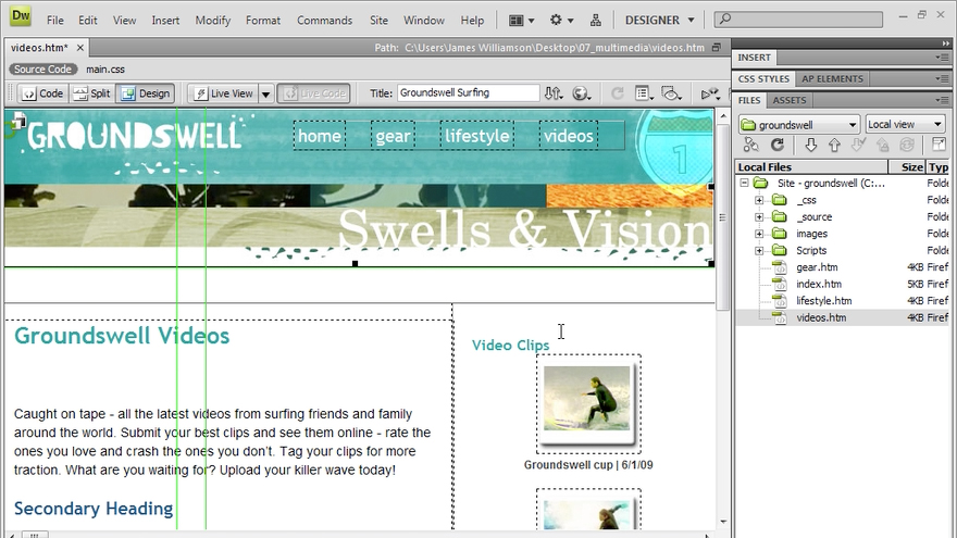 Dreamweaver CS4 Getting Started course image