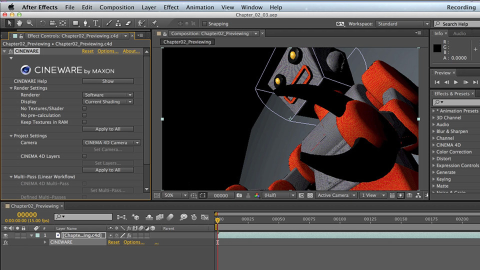 Lynda - Up and Running with CINEMA 4D Lite for After Effects
