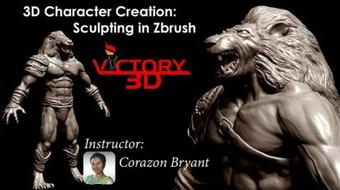 3D Character Creation: Sculpting in Zbrush course image