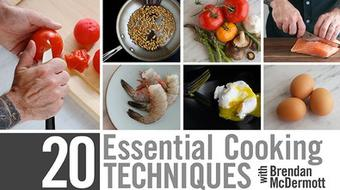 20 Essential Cooking Techniques course image