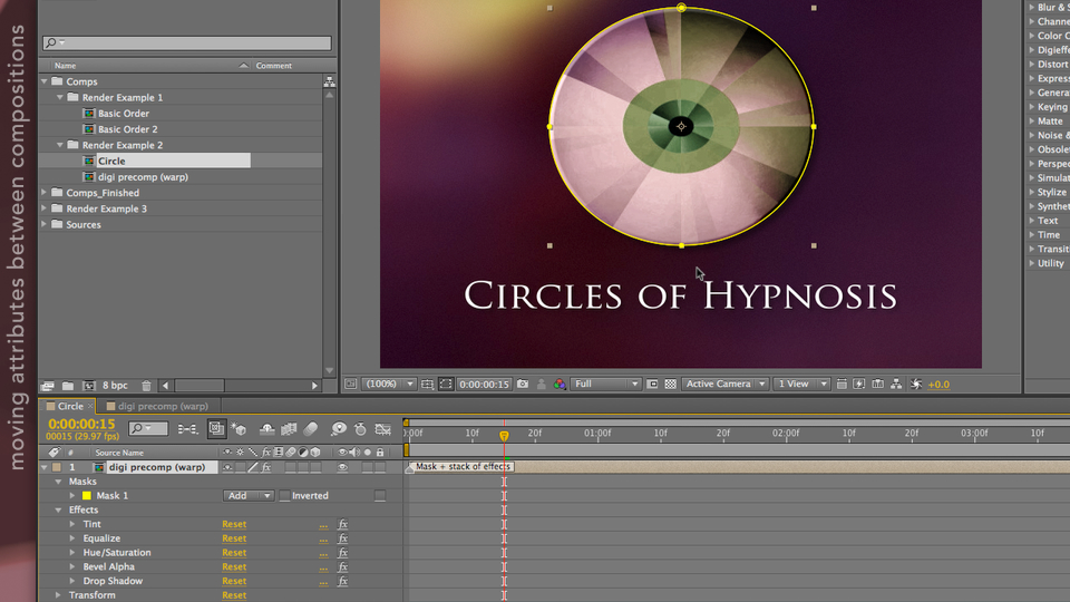 After Effects Apprentice 08: Nesting and Precomposing course image