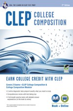 CLEP® College Composition 2nd Ed.,  Book + Online course image