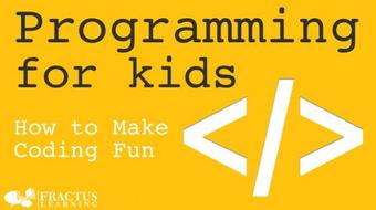 Programming for Kids - How to Make Coding Fun course image