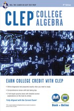 CLEP® College Algebra Book + Online course image