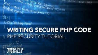 Writing Secure PHP Code - PHP Security Tutorial course image