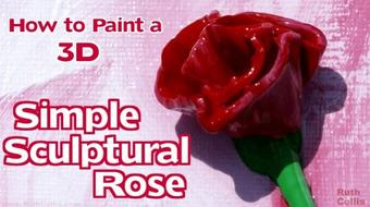 How to Paint a 3D Simple Sculptural Rose course image