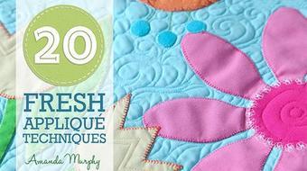 20 Fresh Appliqué Techniques course image