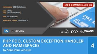 PHP PDO, Custom Exception Handler, Namespaces for E-commerce course image