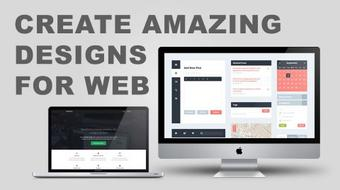 Learn to create beautiful web interfaces and logos course image