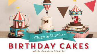 Clean & Simple Birthday Cakes course image