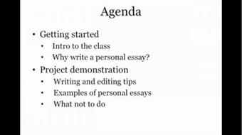 Personal Essay Writing: Write About Your Favorite Topic –Yourself course image