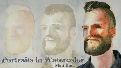 Portraits in Watercolor course image