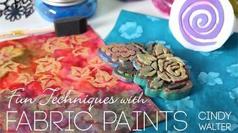Fun Techniques With Fabric Paints course image
