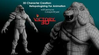 3D Character Creation: Retopologizing For Animation - Zbrush course image