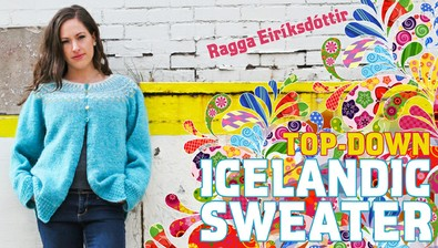 The Top-Down Icelandic Sweater course image