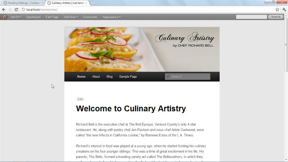 Create an Online Portfolio with WordPress course image