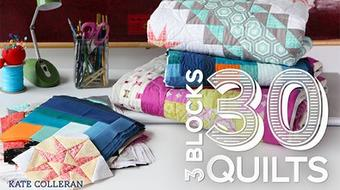 3 Blocks 30 Quilts course image