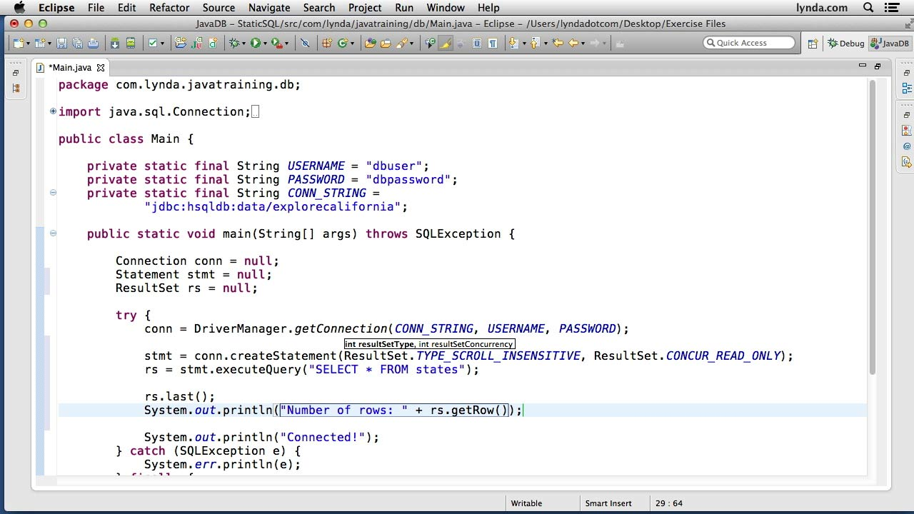Lynda - Java Database Integration with JDBC - student reviews