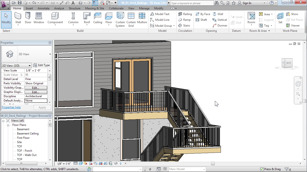 Lynda - Designing a House in Revit Architecture - student