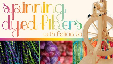 Spinning Dyed Fibers course image