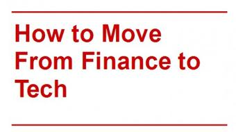 How To Move From Finance to a Tech Startup course image