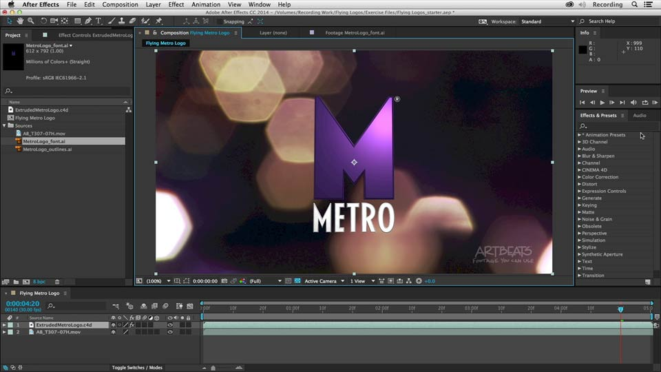 Lynda - Creating Flying Logos with After Effects and CINEMA