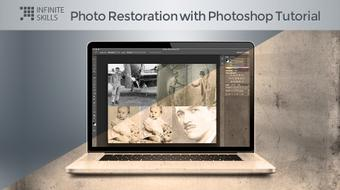 Photo Restoration with Photoshop Tutorial  course image