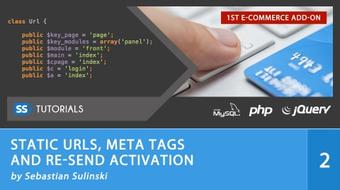 Static Urls, Meta tags and Re-send activation for E-commerce course image