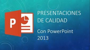 Presentaciones de calidad con PowerPoint 2013 course image