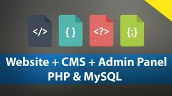 Complete Website & CMS in PHP & MySQL From Scratch! course image