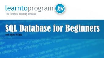 SQL Database for Beginners course image