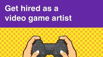 Get hired as a video game artist course image