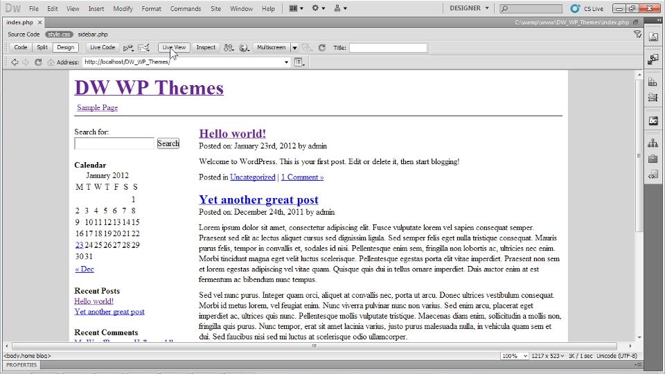 Lynda Dreamweaver And Wordpress Building Themes Student Reviews