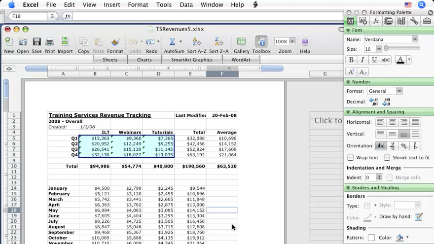 Excel 2008 for Mac Essential Training course image