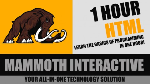 1 Hour HTML course image