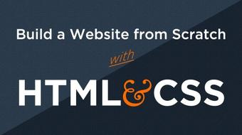 Build Websites from Scratch with HTML & CSS course image