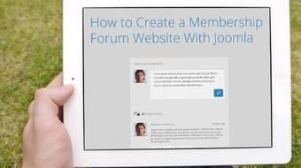 Create a Powerful User Forum Website In Minutes With Joomla course image