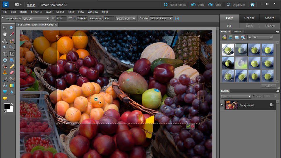 Up and Running with Photoshop Elements 10 course image