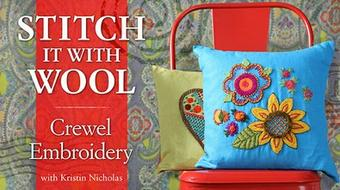 Stitch It With Wool: Crewel Embroidery course image