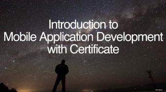 Introduction to Mobile Application Development - Certificate course image