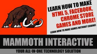 Learn to make HTML 5, Facebook, Chrome Store games and more! course image