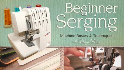 Beginner Serging: Machine Basics & Techniques course image