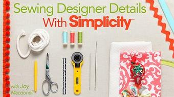 Sewing Designer Details With Simplicity course image