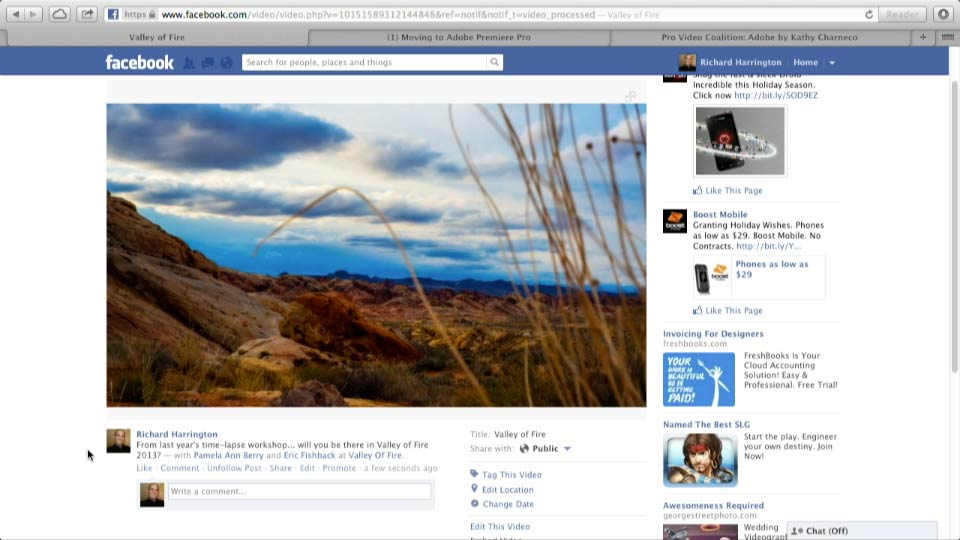 Facebook for Photo and Video Pros course image