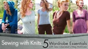 Sewing With Knits: 5 Wardrobe Essentials course image