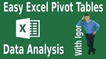 Excel Pivot Tables Data Analysis Master Class course image