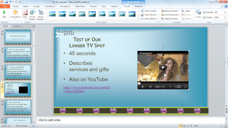PowerPoint 2010: Audio and Video in Depth course image