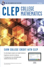 CLEP® College Mathematics Book + Online course image