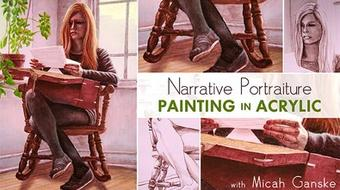 Narrative Portraiture: Painting in Acrylic course image