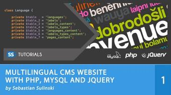 Multilingual CMS Website with PHP, MySQL, jQuery course image
